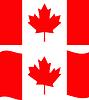 Wohnung und wehenden Flagge Kanada
