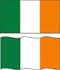 Wohnung und wehe Irische Flagge