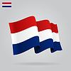 Wohnung und wehenden niederländischen Flagge