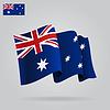 Wohnung und wehenden australische Flagge