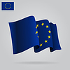 Wohnung und wehenden Flagge der Europäischen Union