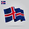 Wohnung und wehe Isländische Flagge