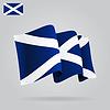 Wohnung und winkte schottische Flagge