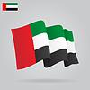 Wohnung und wehe Arabische Emirate-Flagge
