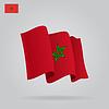Wohnung und wehenden marokkanischen Flagge