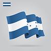 Wohnung und wehenden Flagge Honduras