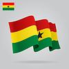 Hintergrund mit winkte Ghana-Flaggen-