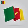 Hintergrund mit winkte Kamerun-Flaggen-