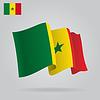 Hintergrund mit wehenden Flagge Senegal