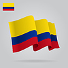 Hintergrund mit winkte Kolumbianische Flagge