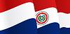 Hintergrund mit winkte paraguayischen Flagge