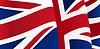 Hintergrund mit winkenden Großbritannien Flagge