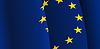 Hintergrund mit wehenden Flagge der Europäischen Union