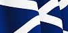 Hintergrund mit winkte schottische Flagge