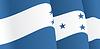 Hintergrund mit winkte Honduras-Flaggen-