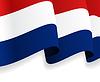 Hintergrund mit winkte Niederländische Flagge
