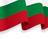 Hintergrund mit wehenden bulgarischen Flagge