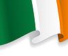 Hintergrund mit winkte Irische Flagge