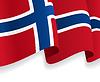 Hintergrund mit winkte Norwegische Flagge