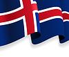 Hintergrund mit winkte Isländische Flagge