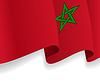 Hintergrund mit winkte Marokkanische Flagge