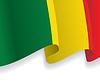 Hintergrund mit winkte Mali-Flagge