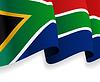 Hintergrund mit winkte Südafrika-Flaggen-
