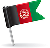 Afghanistan-Pin-Symbol Flagge
