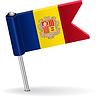 Moldawien-Pin-Symbol Flagge