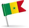 Senegal-Pin-Symbol Flagge
