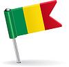 Mali-Pin-Symbol Flagge