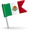 Mexiko-Pin-Symbol Flagge