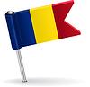Rumänisch-Pin-Symbol Flagge