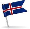 Isländisch-Pin-Symbol Flagge