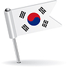 Südkorea-Pin-Symbol Flagge