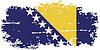 Bosnien und Herzegowina Grunge-Flag