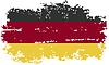 Deutschland-Grunge-Kennzeichen.