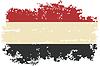 Jemenitischen Grunge-Flag.