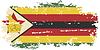Simbabwe-Grunge-Kennzeichen.