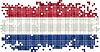 Niederländische Schmutzflagge Kachel