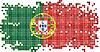 Portugiesisch Grunge Ziegel Flagge