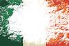 Irische Flagge. Grunge Hintergrund