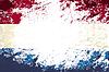 Niederländischer Flagge. Grunge Hintergrund