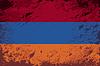 Armenischen Flagge. Grunge Hintergrund