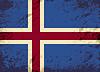 Isländischen Flagge. Grunge Hintergrund