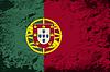 Portugiesische Flagge. Grunge Hintergrund