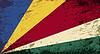 Seychellen-Flagge. Grunge Hintergrund
