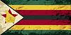 Simbabwischen Flagge. Grunge Hintergrund