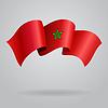 Marokkanischen winken Flagge