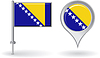 Bosnien und Herzegowina Pin-Symbol, Kartenzeiger flag